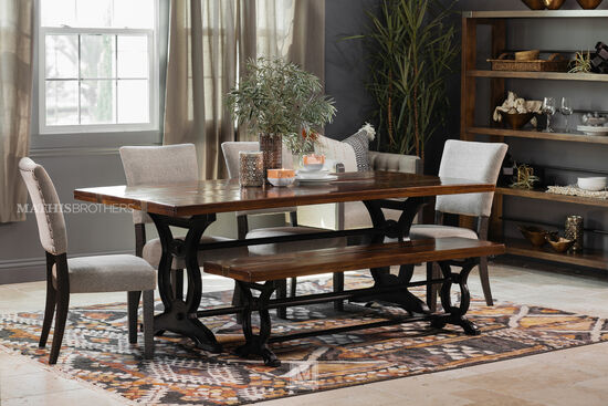 Five Piece Nailhead Trimmed Casual 843939 Dining Set