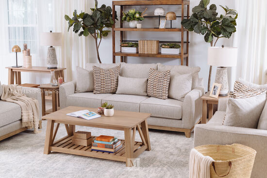 Transitional Coffee Table in Brown