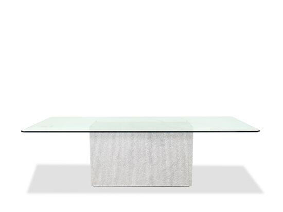 Contemporary Rectangular Dining Table in White