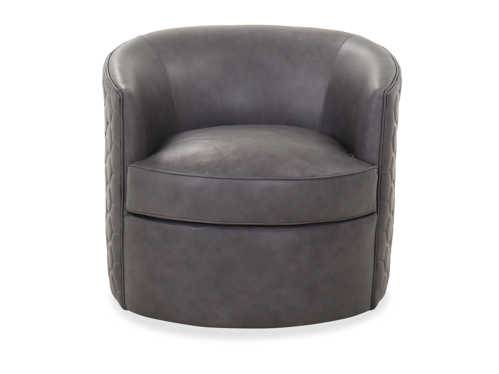 Casual 31 5 Leather Swivel Chair In Gray Mathis Brothers Furniture