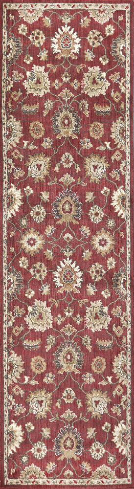 Transitional Power-Loomed 8 x 10 Rectangle Rug in Red