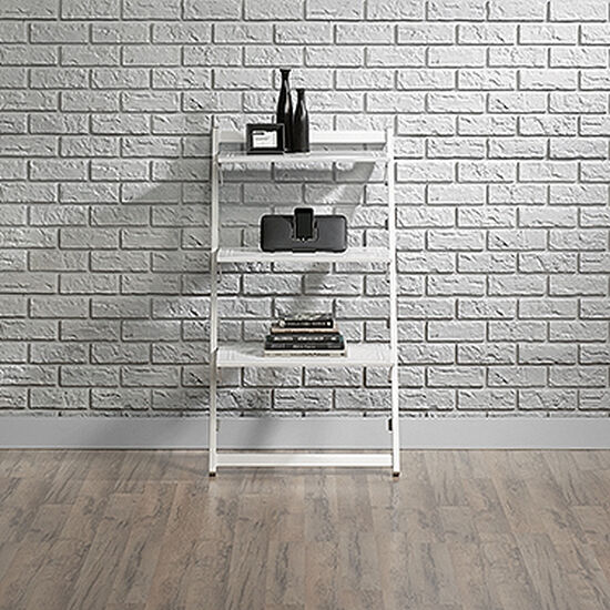 Contemporary Foldable Anywhere Shelf in White