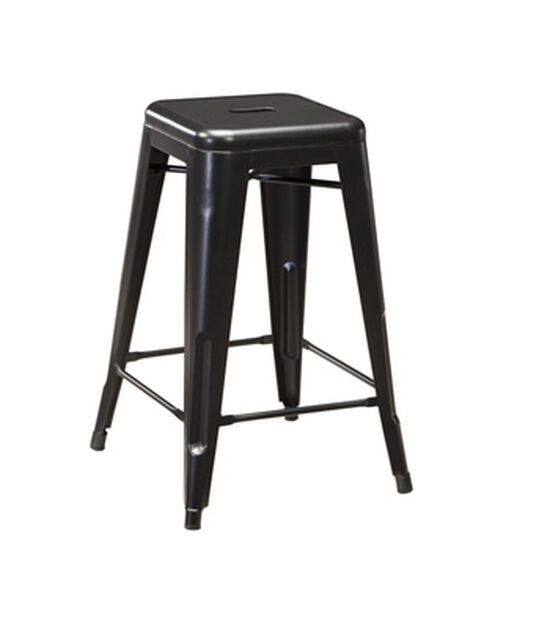 """Four Casual 26"""" Backless Bar Stool in Black"""