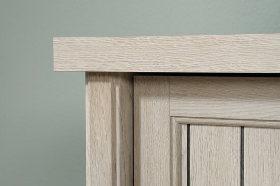 """65"""" Contemporary Planked-Door Credenza in Chalked Chestnut"""