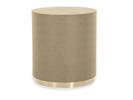 Round Casual End Table in Brown