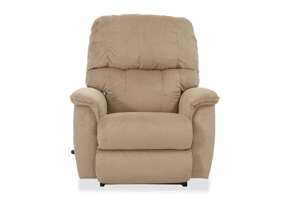 "Contemporary 38.5"" Rocker Recliner in Brown"