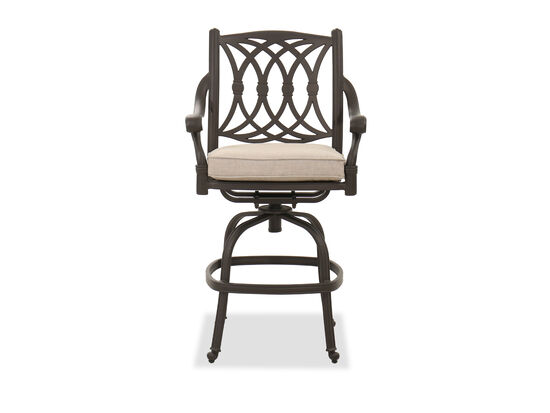 Casual Swivel Counter Stool in Brown