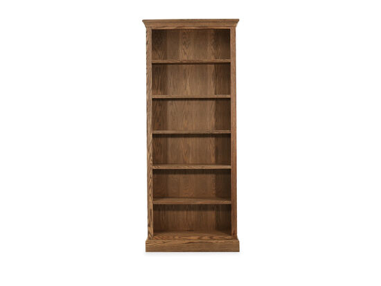"33"" Casual Six-Shelf Bookcase in Glazed Oak"