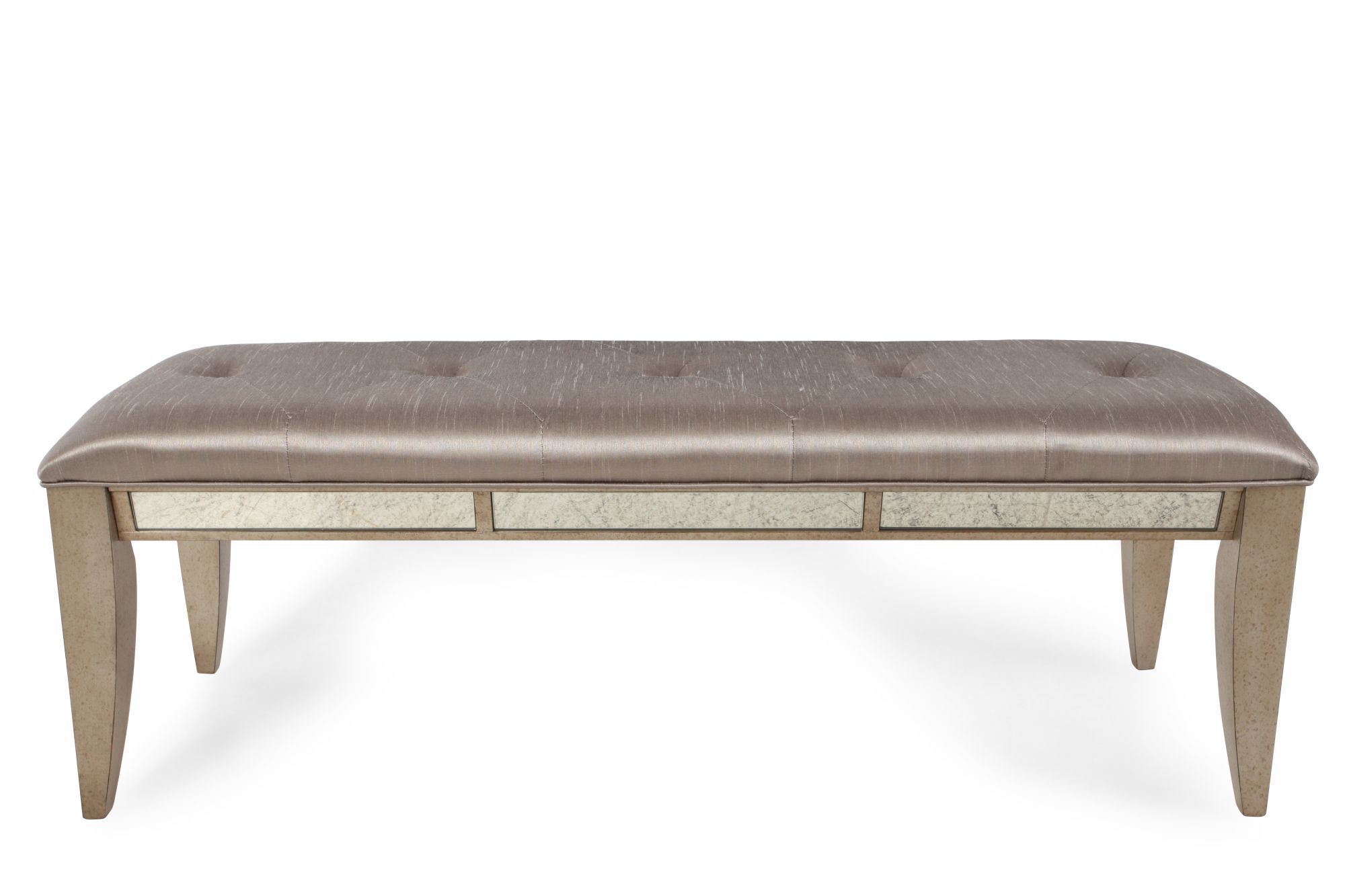 Contemporary Tufted 54u0026quot; Bed Bench ...