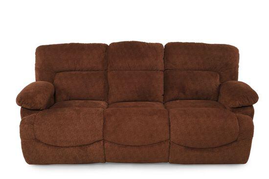 Textured Contemporary Sofa in Caramel