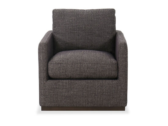 """30"""" Casual Swivel Accent Chair in Gray"""