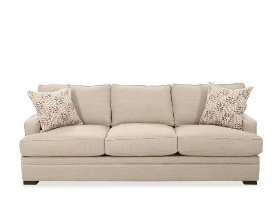 "Contemporary 92"" Three-Cushion Sofa in Beige"