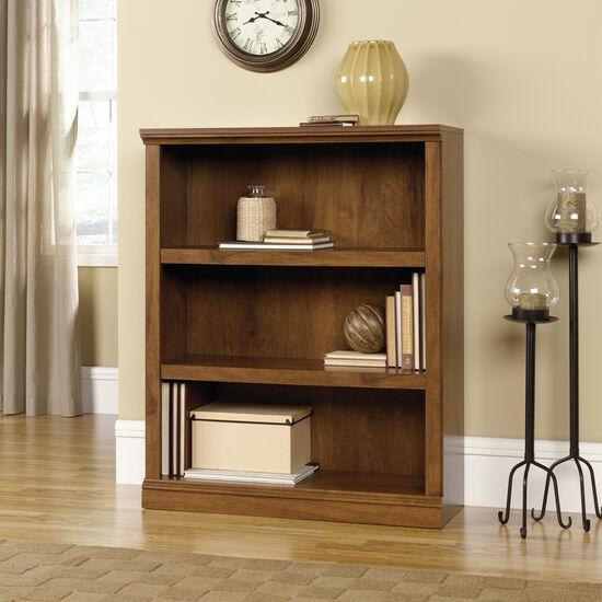 Traditional Adjustable Shelf Open Bookcase in Oiled Oak