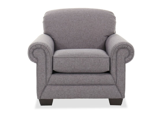 """42"""" Rolled Arm Chair in Heather Gray"""