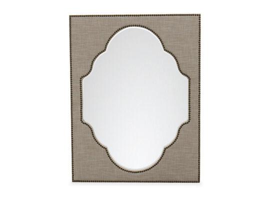 "44"" Tradtional Nailhead Accented Mirrorin Grey"