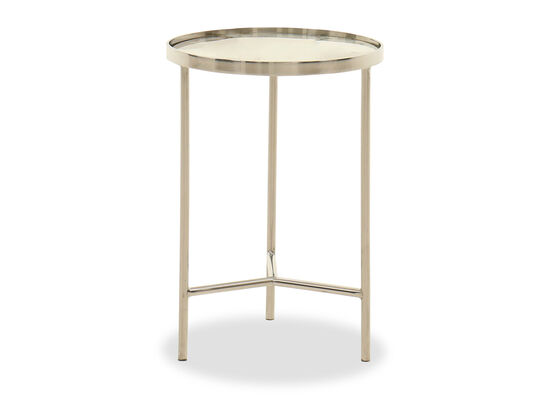 Round Contemporary Side Table in Gold