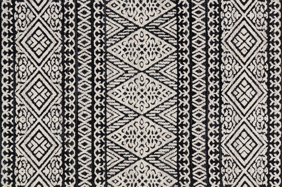 Magnolia Home Power Loomed 5'x7'6'' Rug in Black/Silver