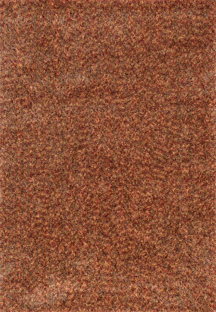 Contemporary Rug in Rust/Multi