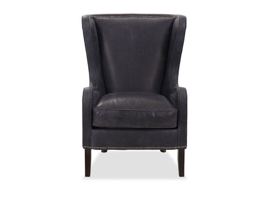 """Transitional Nailhead-Accented 31.5"""" Club Chair in Blue"""