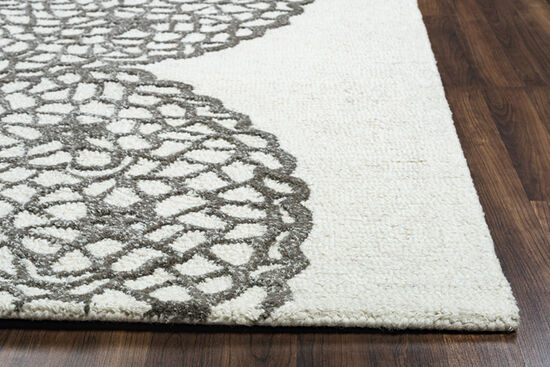 Transitional Hand-Tufted 9'  x  12' Rectangle Rug in Grey