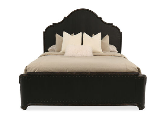 "72"" Traditional King Panel Bed in Kettle Black"