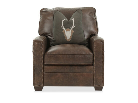 "Contemporary Leather 33"" Chair in Brown"