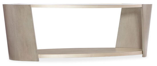 Elixir Oval Cocktail Table in Light Wood