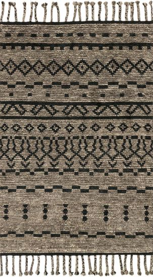 """Transitional 5'-6""""x8'-6"""" Rug in Graphite/Black"""
