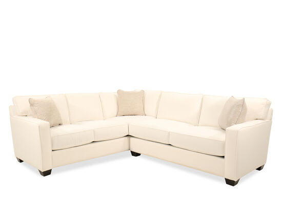 """95"""" Two-Piece Contemporary Sectional in Beige"""
