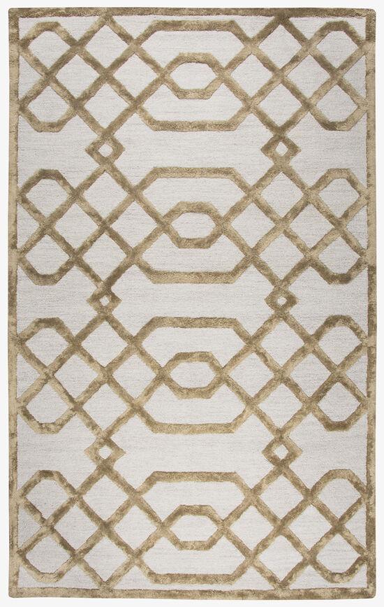 Geometric Hand-Tufted 9' x 12' Rectangle Rug in Cream