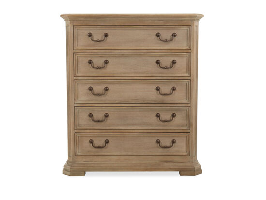 Five-Drawer Transitional Chest in Light Brown