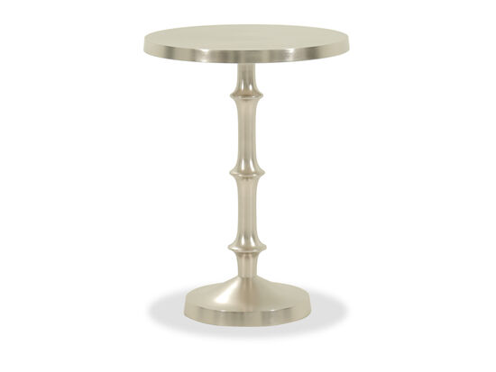 Round Casual Chairside Table in Silver