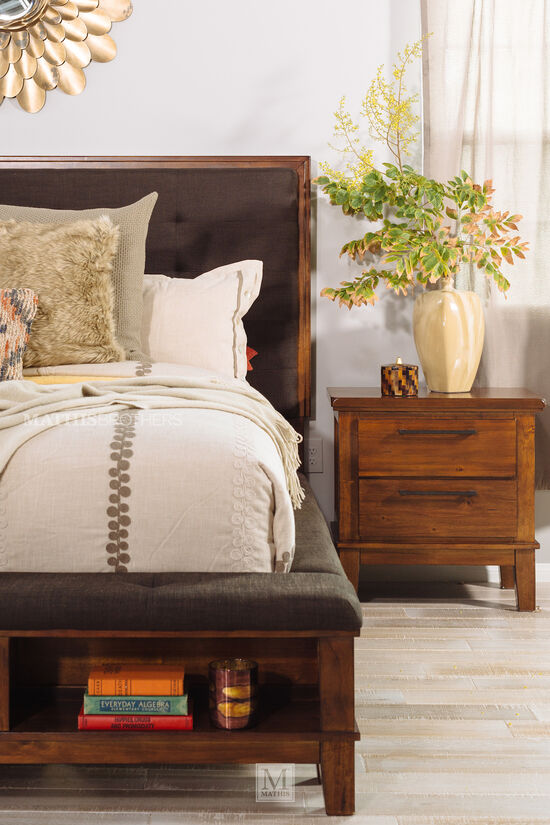 Four-Piece Contemporary Storage Bedroom Set in Brown