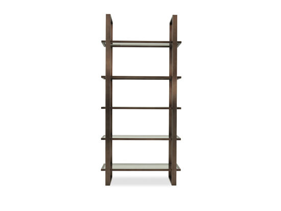 Rectangular-Framed Mid-Century Modern Etagere in Bronze