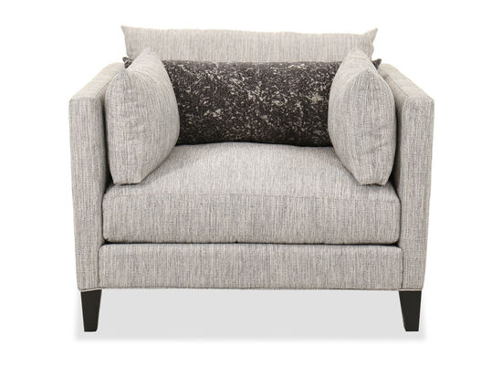 """Transitional 45"""" Straight Arm Chair in Gray"""