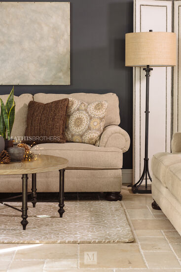 """103"""" Rolled Arm Sofa in Quarry Brown"""