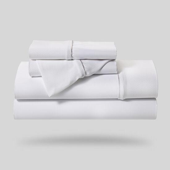 Five-Piece Hyper-Cotton Queen Sheet Set in White