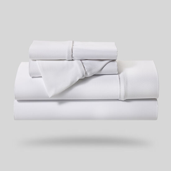 Five-Piece Hyper-Cotton Queen Sheet Set in White