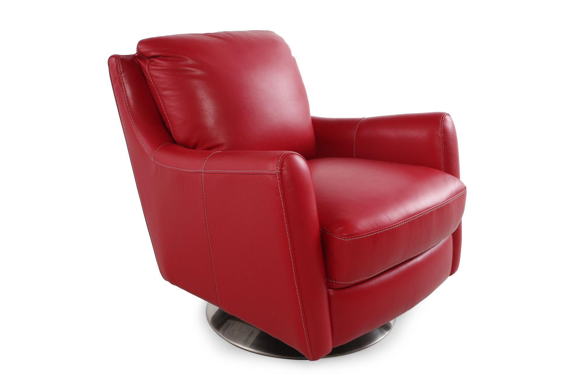 Superbe Track Arm Swivel Chair In Red