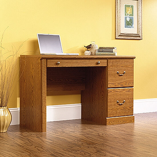 "47"" Traditional Two-Drawer Computer Desk in Carolina Oak"