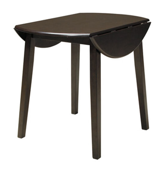 """Contemporary 36"""" Drop Leaf Dining Table in Dark Brown"""
