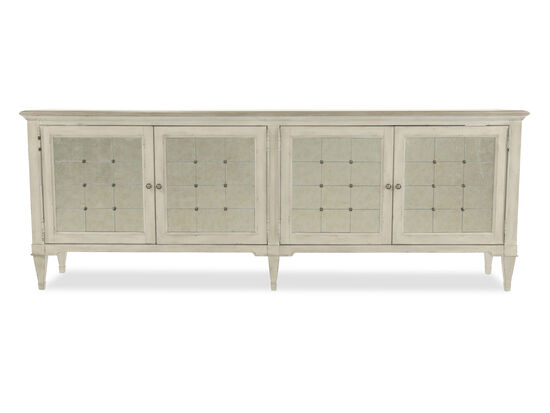 "104"" Four-Door Credenza in White"