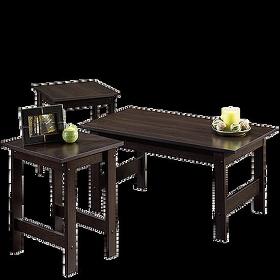 Three-Piece Casual Table Set in Cinnamon Cherry
