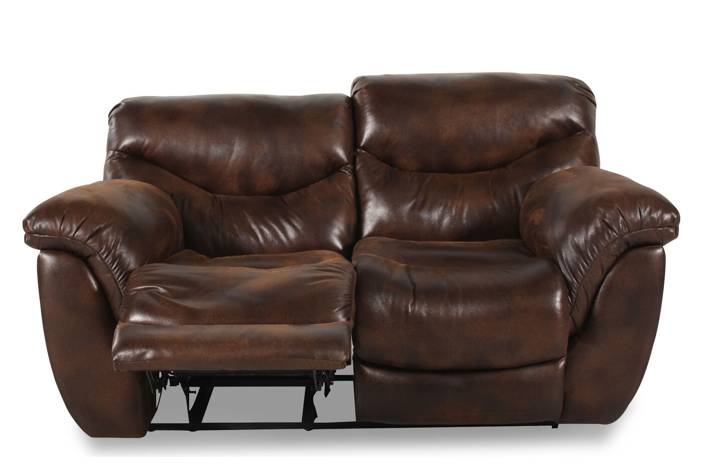 Reclining Contemporary 45 Loveseat In Espresso Mathis Brothers Furniture