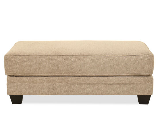 Rectangular Casual Ottoman in Brown