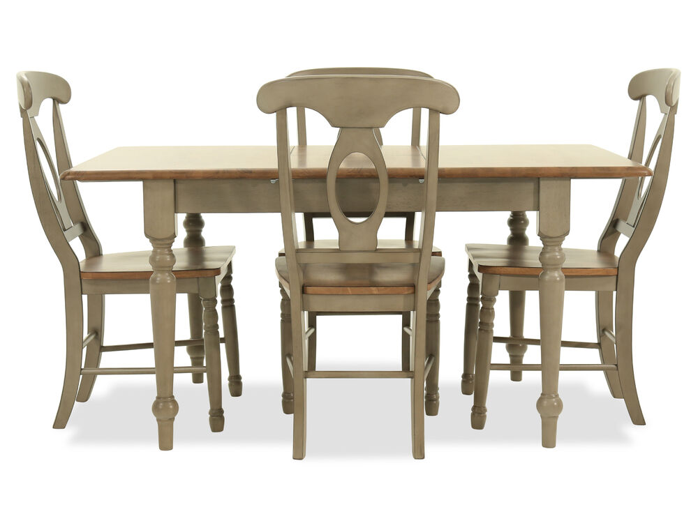 Five-Piece Traditional 60'' Dining Set in Gray