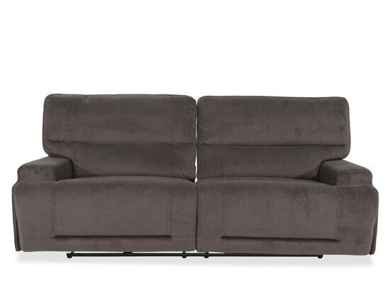 "Casual 91"" Power Reclining Sofa in Gray"