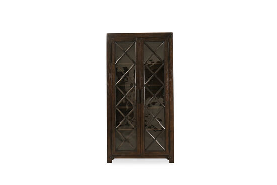 Casual Bunching Display Cabinet in Dark Walnut