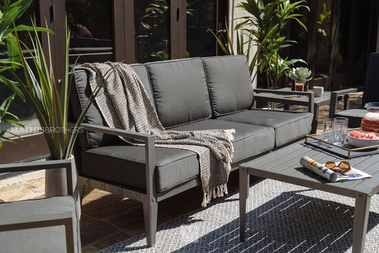 Casual Patio Sofa in Gray