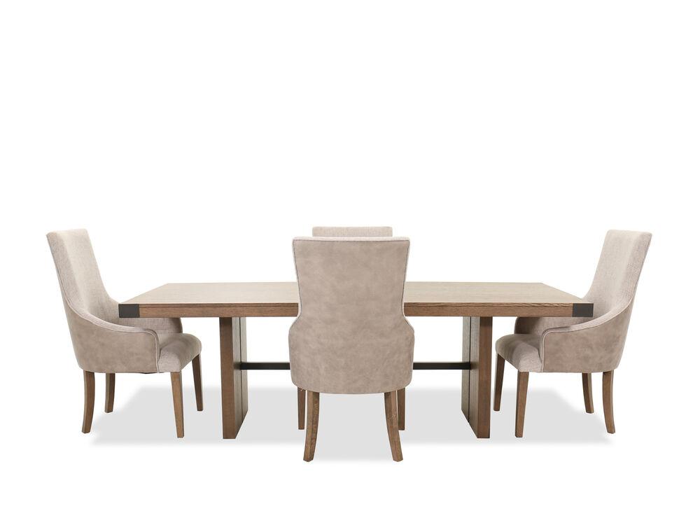 Five-Piece Casual Dining Set in Oak